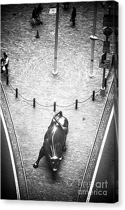 A Bull On Wall Street 1990s Canvas Print by John Rizzuto