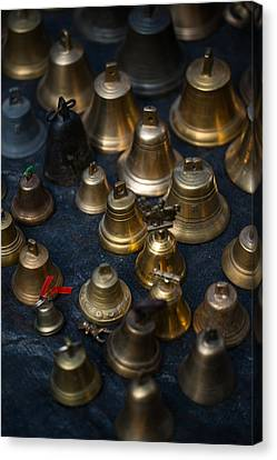 A Bunch Of Shining Vintage Bells Canvas Print