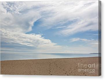 A Calm Day On The Nantucket Sound Canvas Print by Michelle Wiarda
