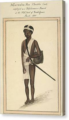 A Carnatic Peon Canvas Print by British Library