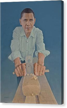 A Carpenter Chinese Citizen Barack Obama  Canvas Print by Tu Guohong