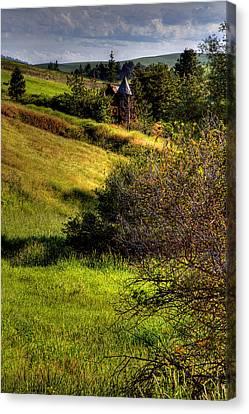 A Castle In The Landscape Canvas Print by David Patterson