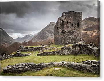 A Castle In The Mountains Canvas Print by Christine Smart