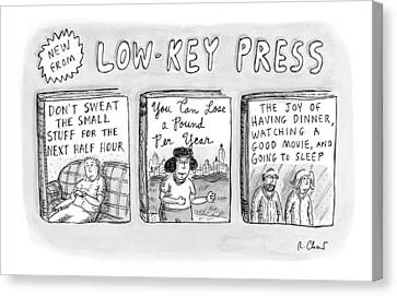 Help Canvas Print - A Catalog From A Publisher Called Low-key Press by Roz Chast