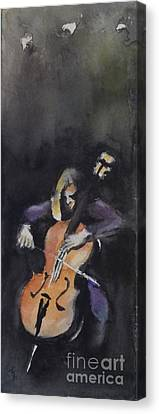 A Cellist Canvas Print