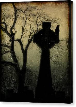 A Celtic Crow Canvas Print by Gothicolors Donna Snyder