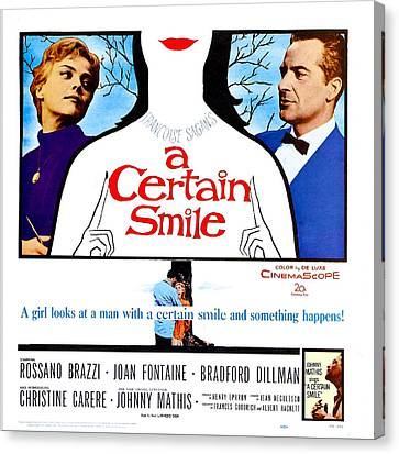 1950s Poster Art Canvas Print - A Certain Smile, Us Poster, From Left by Everett