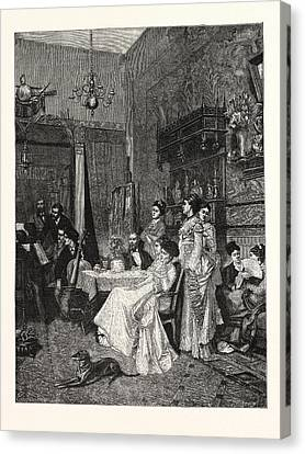 A Chamber Concert, A Picture In The Paris Salon Canvas Print