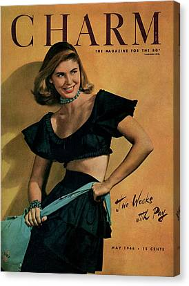 A Charm Cover Of A Model Wearing A Rhumba Top Canvas Print by Jon Abbot