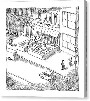 Cheese Canvas Print - A Cheese Shop Has The Exterior Of A Mouse Maze by John O'Brien