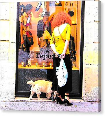 A Chic Parisian Lady Canvas Print by Jan Matson