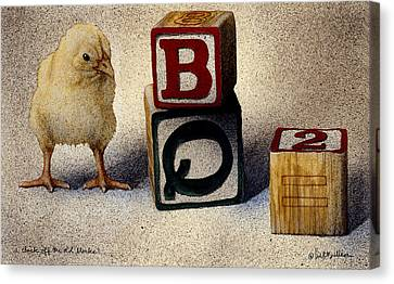 A Chick Off The Old Blocks... Canvas Print by Will Bullas