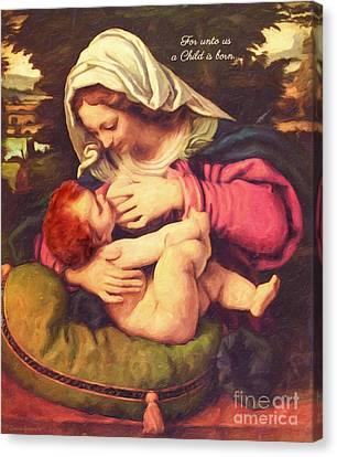 A Child Is Born Canvas Print by Lianne Schneider