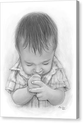 A Child's Payer Canvas Print by Greg Joens