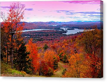 A Chilly Autumn Day On Mccauley Mountain Canvas Print by David Patterson