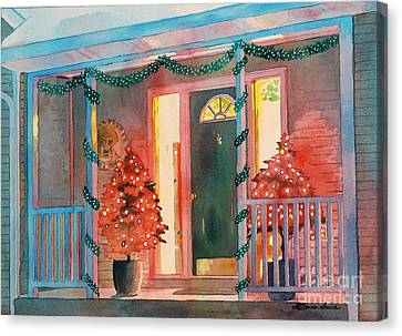 A Christmas At Home Canvas Print