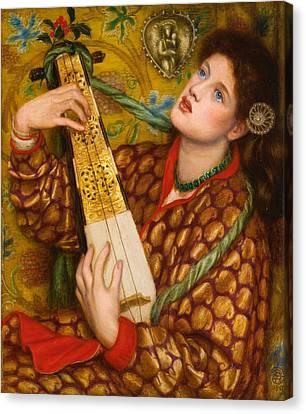 A Christmas Carol Canvas Print by Dante Gabriel Rossetti