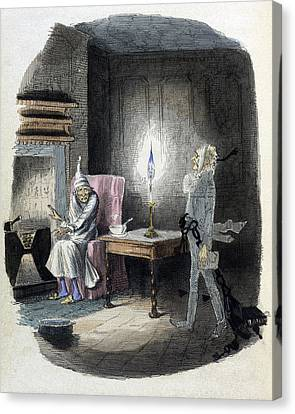 A Christmas Carol, Marleys Ghost, 1843 Canvas Print by British Library