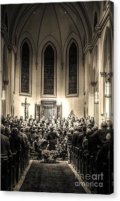 A Christmas Choir Canvas Print