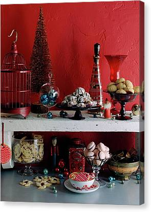 A Christmas Display Canvas Print by Romulo Yanes