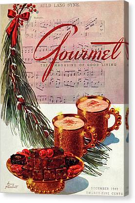 Bough Canvas Print - A Christmas Gourmet Cover by Henry Stahlhut
