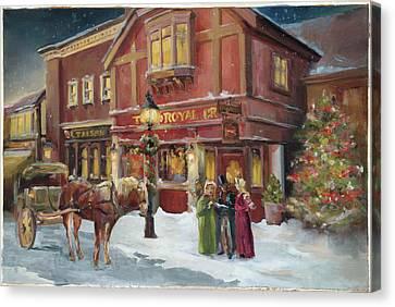 A Christmas Night - Recolor Canvas Print by Marilyn Hageman