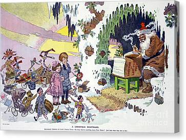A Christmas Nightmare 1911 Canvas Print by Photo Researchers