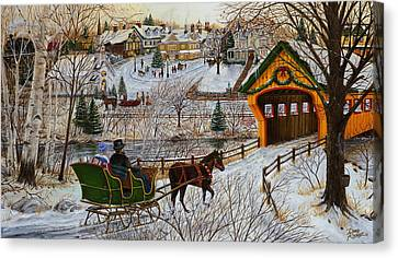 A Christmas Sleigh Ride Canvas Print by Doug Kreuger