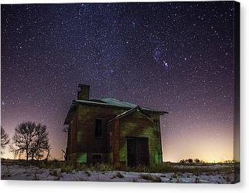 Abandoned Houses Canvas Print - A Cold Dark Place by Aaron J Groen