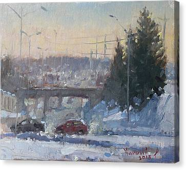 A Cold Morning Canvas Print by Ylli Haruni