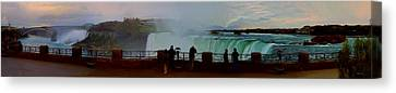 Canvas Print featuring the photograph A Cold November Mist Over Niagra by Dennis Lundell