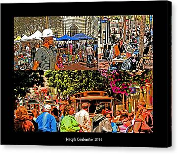 A Collage Of San Francisco Canvas Print by Joseph Coulombe