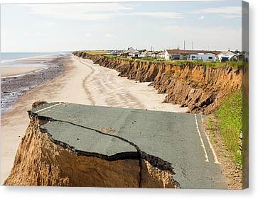 A Collapsed Coastal Road Canvas Print by Ashley Cooper