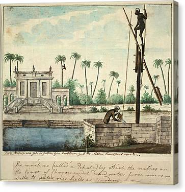 A Colonial Garden Canvas Print by British Library