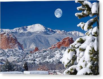 A Colorado Christmas Canvas Print