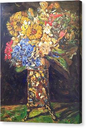 Canvas Print featuring the painting A Colorful Sun-day by Belinda Low