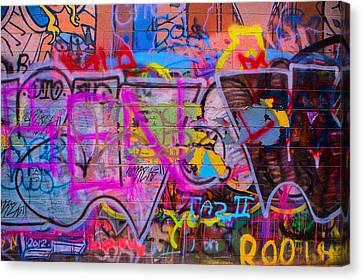 A Colourful Wall. Canvas Print