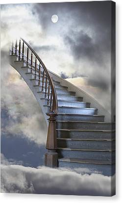 A Composite Entitled Staircase Canvas Print by Robert Bartow