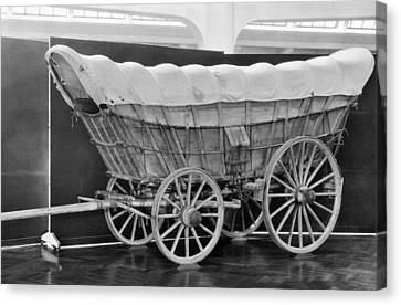 A Conestoga Covered Wagon Canvas Print by Underwood Archives