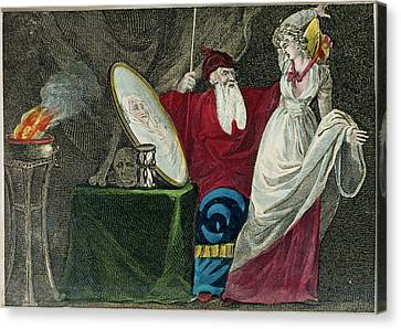 A Conjuror Canvas Print by British Library