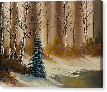 Bob Ross Canvas Print - Russet Winter by Chris Steele