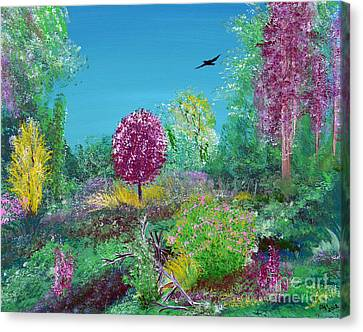 A Corner Of Heaven In Rural Indiana Canvas Print by Alys Caviness-Gober