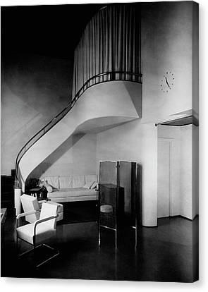 A Corner Staircase Canvas Print
