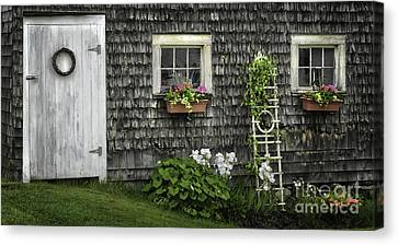 Maine Barns Canvas Print - A Cottage Garden - Essence Of Mid Coast Maine by Expressive Landscapes Fine Art Photography by Thom