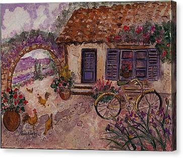 A Cottage In Provence Canvas Print