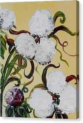A Cotton Pickin' Couple Canvas Print by Eloise Schneider