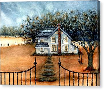 A Country Home Canvas Print by Janine Riley