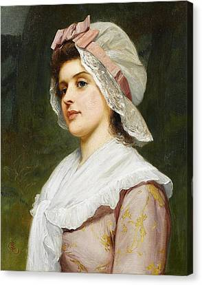 A Country Maid Canvas Print by Charles Sillem Lidderdale