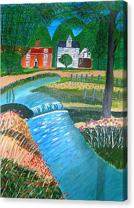 A Country Stream Canvas Print
