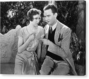 A Couple Flirting Canvas Print by Underwood Archives